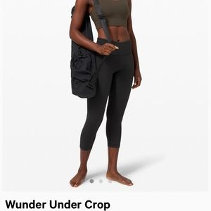 Lulu black wunder under crop tights